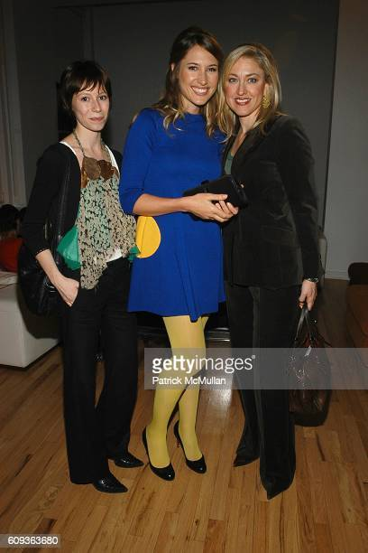 Charlotte Pinson Alison Brokaw and MarieNoelle Pierce attend LISA PERRY Fashion Collection Launch Party at Lisa Perry Studio on January 30 2007 in...