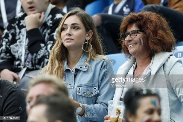 Charlotte Pirroni girlfriend of Florian Thauvin of France during the 2018 FIFA World Cup Semi Final match between France and Belgium at the Saint...
