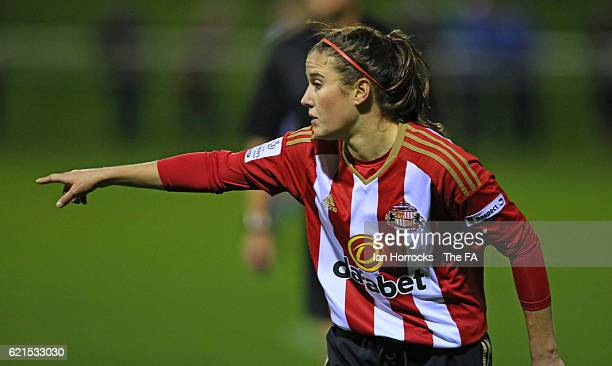 Charlotte Potts of Sunderland during the WSL1 match between Sunderland Ladies and Birminghamon City Ladies at The Hetton Centre on November 6, 2016...
