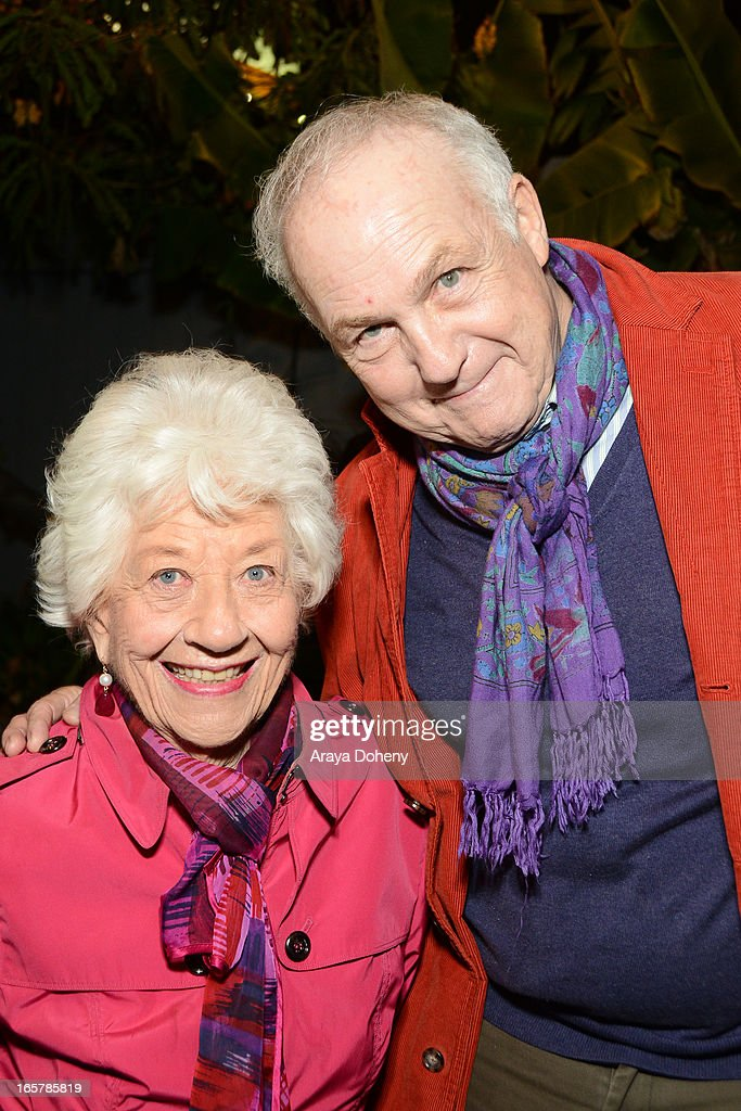 Charlotte Rae and Lawrence Pressman attend the opening night of 'Assisted Living' at The Odyssey Theatre on April 5, 2013 in Los Angeles, California.