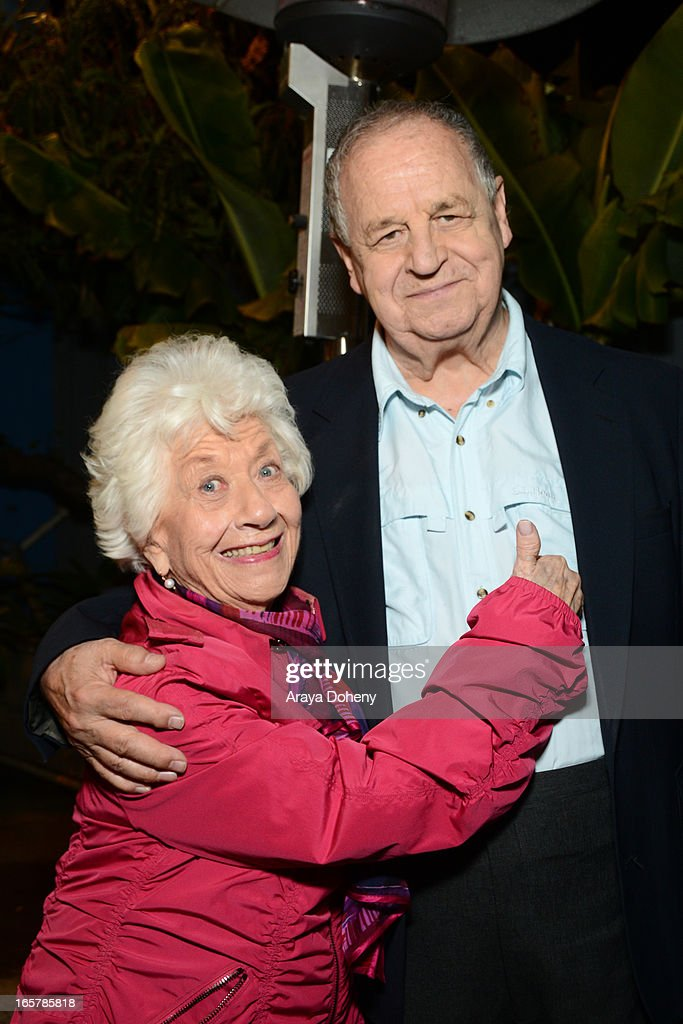 Charlotte Rae and Paul Dooley attend the opening night of 'Assisted Living' at The Odyssey Theatre on April 5, 2013 in Los Angeles, California.