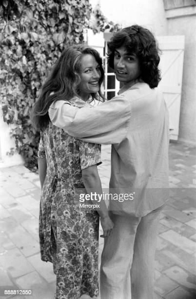 Charlotte Rampling and her boyfriend Jean Michel Jarre pictured at a villa near St Tropez August 1977