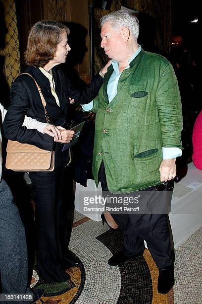 Charlotte Rampling and Jeweller Joel Arthur Rosenthal attend the Stella McCartney Spring / Summer 2013 show as part of Paris Fashion Week on October...