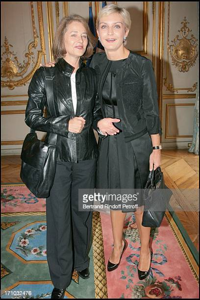 Charlotte Rampling and Melita Toscan Du Plantier David Lynch is made Officer of the Legion of Honor at the Elysee palace