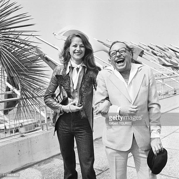Charlotte Rampling and Tennessee Williams at Cannes Film Festival in 1976 in Cannes France