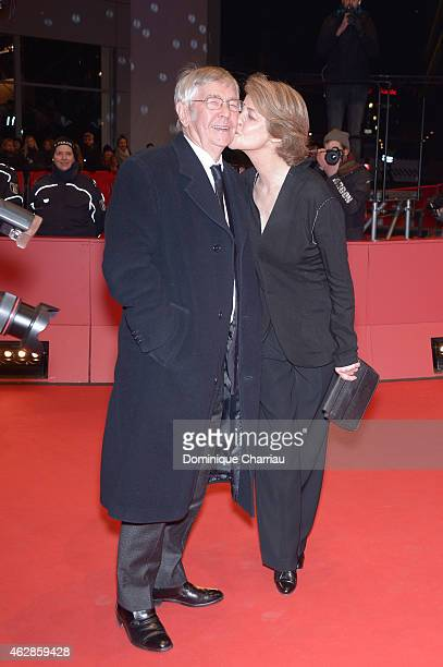 Charlotte Rampling and Tom Courtenay attend the '45 Years' premiere during the 65th Berlinale International Film Festival at Berlinale Palace on...