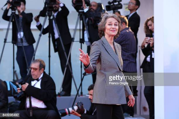 Charlotte Rampling arrives at the Award Ceremony during the 74th Venice Film Festival at Sala Grande on September 9 2017 in Venice Italy