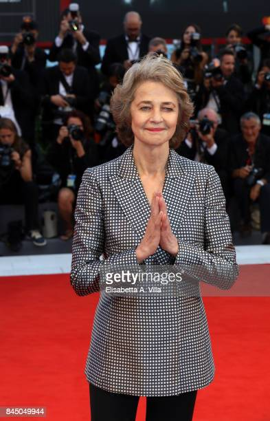 Charlotte Rampling arrives at the Award Ceremony of the 74th Venice Film Festival at Sala Grande on September 9 2017 in Venice Italy