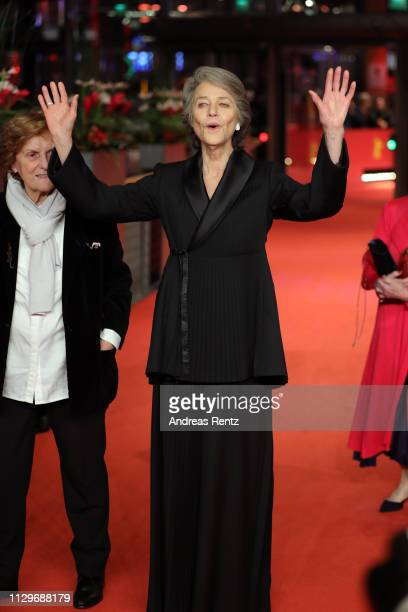 Charlotte Rampling arrives for the Hommage Charlotte Rampling Honorary Golden Bear award ceremony during the 69th Berlinale International Film...