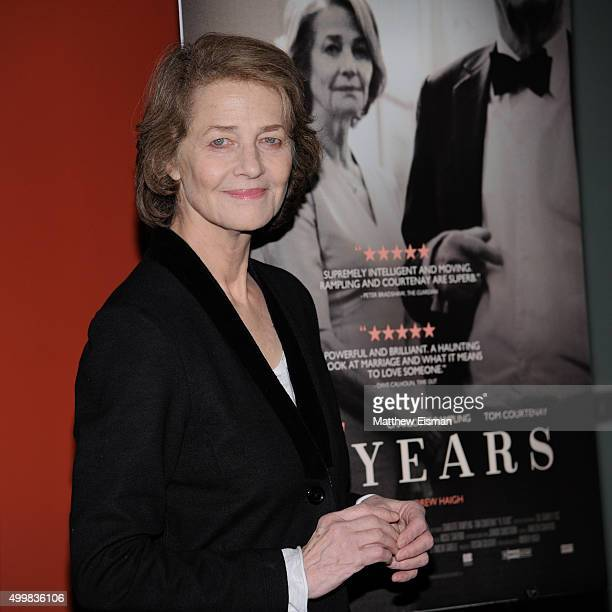 Charlotte Rampling attends Sundance Selects' '45 Years' screening hosted by The Cinema Society with Lillet And NARS at Landmark Sunshine Cinema on...