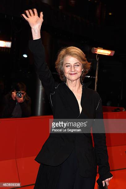 Charlotte Rampling attends the '45 Years' premiere during the 65th Berlinale International Film Festival at Berlinale Palace on February 6 2015 in...