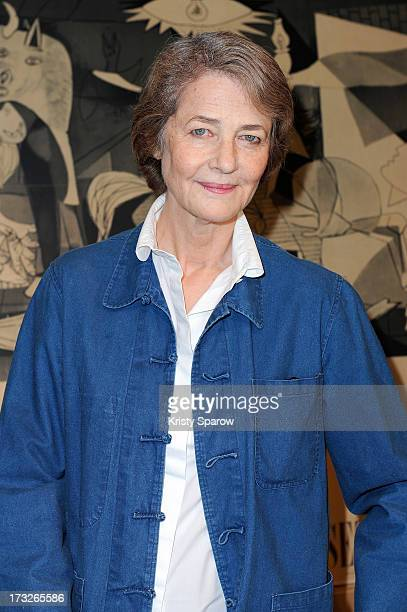 Charlotte Rampling attends the CNEA Press Conference Picasso Workshop at Hotel de Savoie on July 11 2013 in Paris France