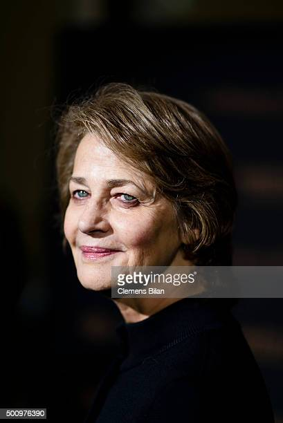 Charlotte Rampling attends the EFA Filmgala Opening 15th French Film Week Berlin on December 11 2015 in Berlin Germany