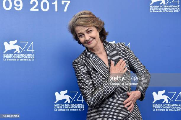 Charlotte Rampling attends the 'Hannah' photocall during the 74th Venice Film Festival on September 8 2017 in Venice Italy