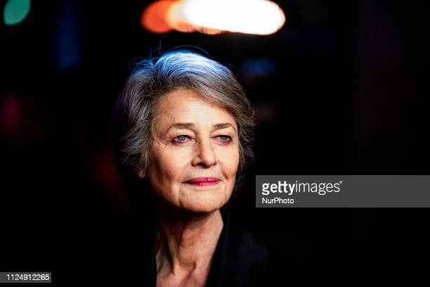 Charlotte Rampling attends the Hommage Charlotte Rampling Honorary Golden Bear award ceremony during the 69th Berlinale International Film Festival...