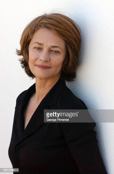 Charlotte Rampling during 2003 Cannes Film Festival 'Swimming Pool' Portraits at Hotel Martinez in Cannes France