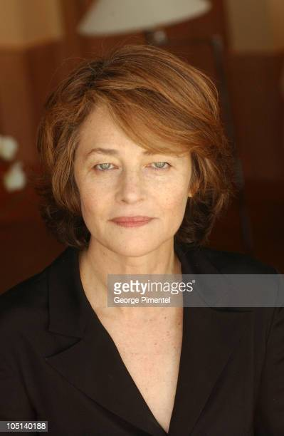 "Charlotte Rampling during 2003 Cannes Film Festival - ""Swimming Pool"" Portraits at Hotel Martinez in Cannes, France."