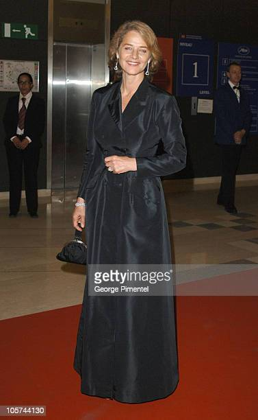 Charlotte Rampling during 2005 Cannes Film Festival Opening Gala Dinner at Palais des Festival in Cannes France