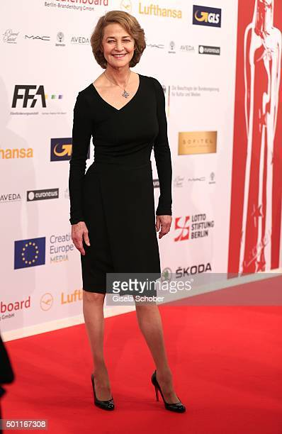 Charlotte Rampling during the European Film Awards 2015 at Haus Der Berliner Festspiele on December 12 2015 in Berlin Germany