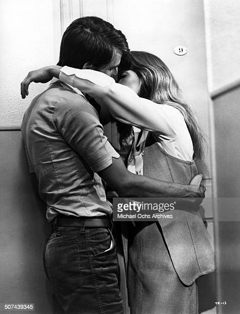 Charlotte Rampling kisses Sam Waterston in a scene from the movie Three circa 1967