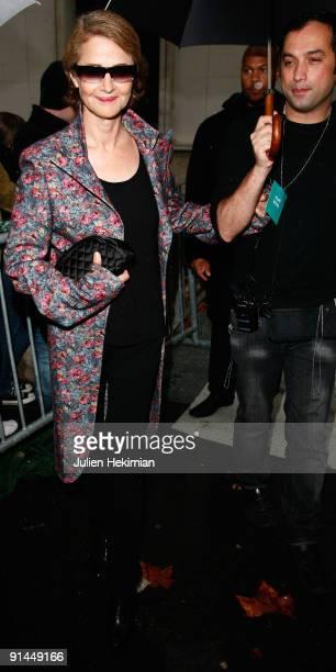 Charlotte Rampling leaves the Stella McCartney Pret a Porter show as part of the Paris Womenswear Fashion Week Spring/Summer 2010 at Palais De Tokyo...