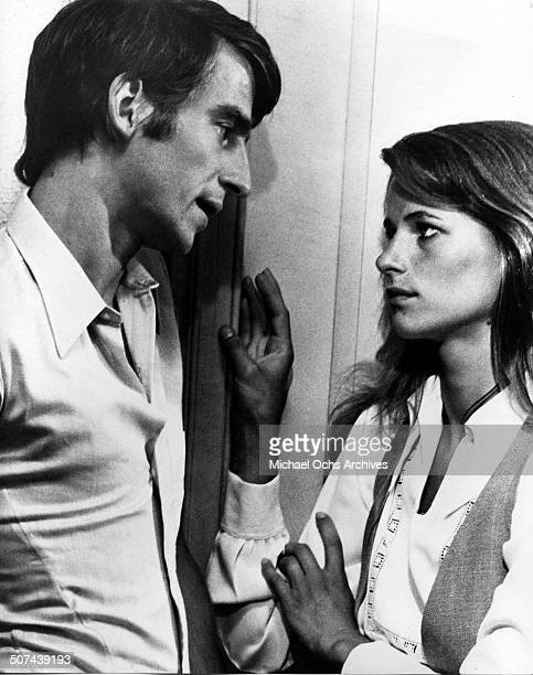 Charlotte Rampling tries to seduce Sam Waterston in a scene from the movie 'Three' circa 1967