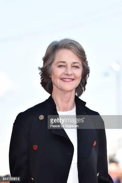 Charlotte Rampling walks the red carpet ahead of the 'Hannah' screening during the 74th Venice Film Festival at Sala Grande on September 8 2017 in...