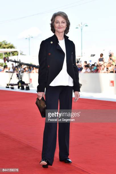 Charlotte Rampling walks the red carpet ahead of the 'Hannah' screening during the 74th Venice Film Festival at Sala Grande on September 8, 2017 in...