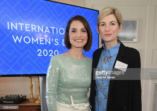 Charlotte Riley and Jodie Whittaker attend a drinks reception at Soho House to celebrate the announcement of a brand-new childcare facility at Warner...