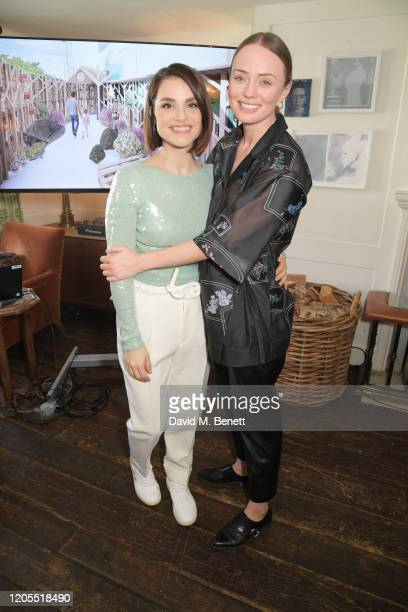 Charlotte Riley and Laura Haddock attend a drinks reception at Soho House to celebrate the announcement of a brand-new childcare facility at Warner...