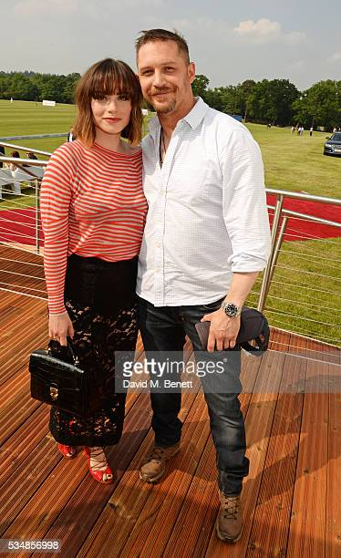 Charlotte Riley and Tom Hardy attend day one of the Audi Polo Challenge at Coworth Park on May 28 2016 in London England