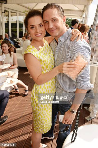 Charlotte Riley and Tom Hardy attend day two of the Audi Polo Challenge at Coworth Park Polo Club on June 1 2014 in Ascot England