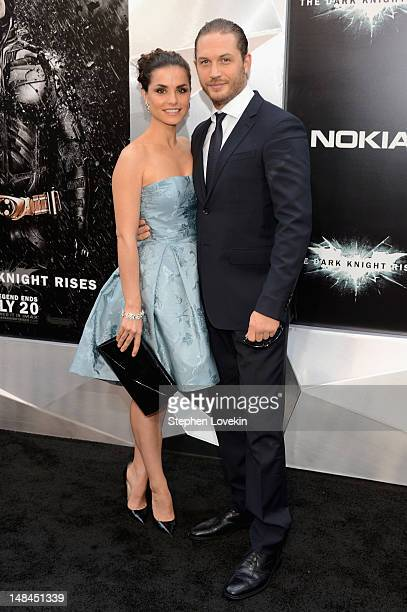 Charlotte Riley and Tom Hardy attend 'The Dark Knight Rises' premiere at AMC Lincoln Square Theater on July 16 2012 in New York City
