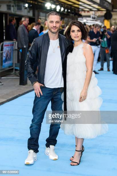 Charlotte Riley and Tom Hardy attend the 'Swimming With Men' UK Premiere at The Curzon Mayfair on July 4 2018 in London England