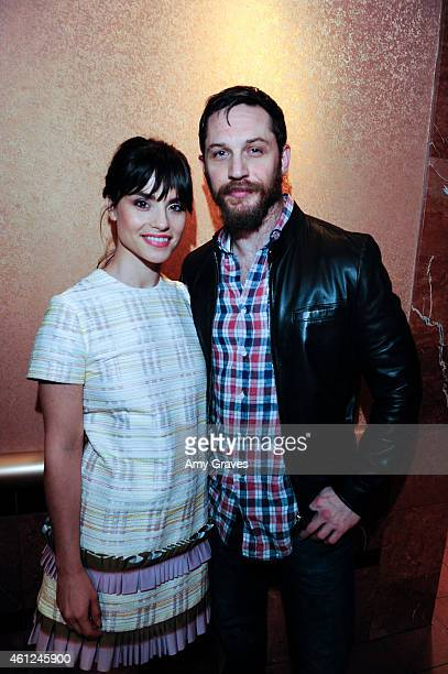 Charlotte Riley and Tom Hardy attend the US Premiere of 'Grand Street' during the 26th Annual Palm Springs International Film Festival Film January 8...