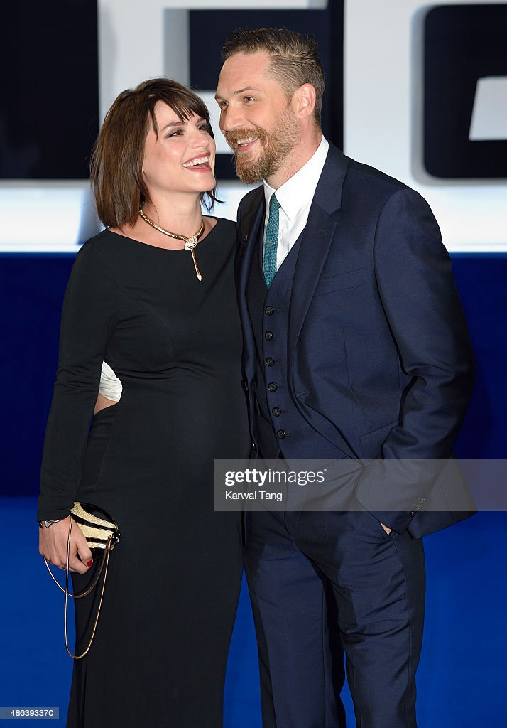 Charlotte Riley and Tom Hardy attend the world premiere of 'Legend' at Odeon Leicester Square on September 3, 2015 in London, England.