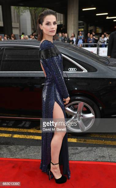 Charlotte Riley arrives in an Audi at the BAFTA TV on Sunday 14 May 2017 on May 14 2017 in London United Kingdom