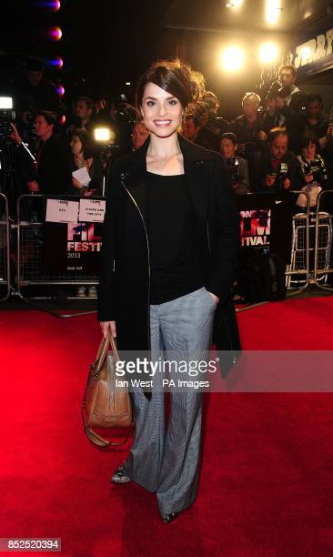Charlotte Riley arriving at the screening of new film Locke at the Odeon West End cinema London
