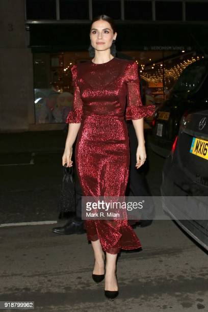 Charlotte Riley attending the Dunhill and Dylan Jones PreBAFTA Filmmakers Dinner on February 15 2018 in London England
