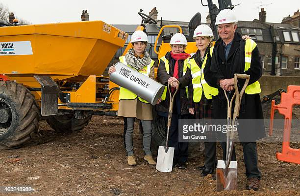 Charlotte Riley Dame Janet Suzman Patricia Hodge and Martin Shaw attend a photocall for the ground breaking of LAMDA's new building at LAMDA on...