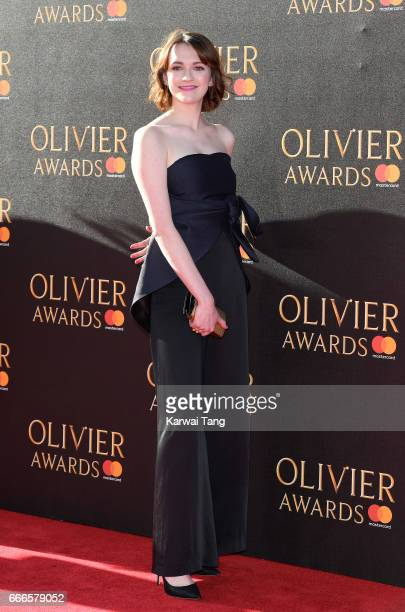 Charlotte Ritchie arrives for The Olivier Awards 2017 at the Royal Albert Hall on April 9 2017 in London England