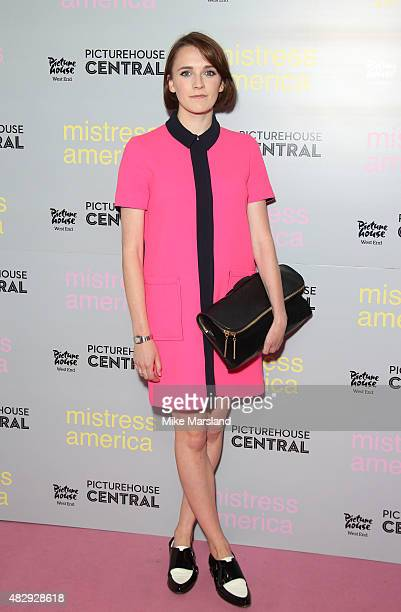 Charlotte Ritchie attends a photocall for 'Mistress America' at Picturehouse Central on August 4 2015 in London England