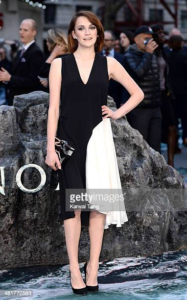 Charlotte Ritchie attends the UK premiere of 'Noah' held at the Odeon Leicester Square on March 31 2014 in London England