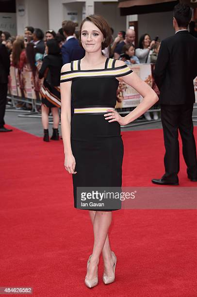 Charlotte Ritchie attends the World Premiere of 'The Bad Education Movie' at the Vue West End on August 20 2015 in London England