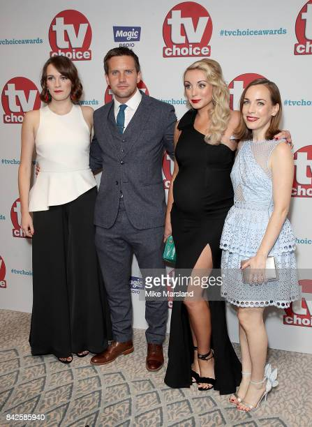 Charlotte Ritchie Jack Ashton Helen George and Laura Main arrive for the TV Choice Awards at The Dorchester on September 4 2017 in London England