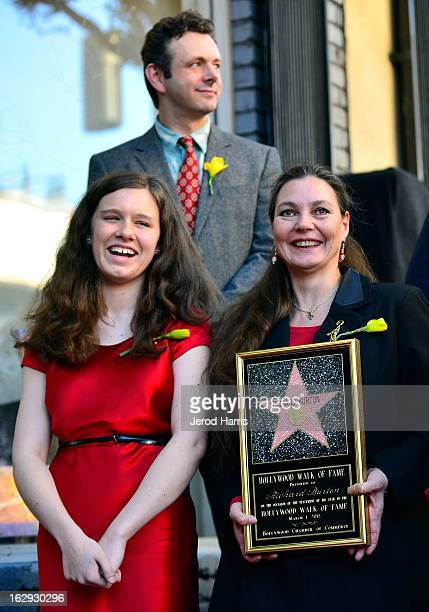 Charlotte Ritchie , Maria Burton and Michael Sheen attend the ceremony honoring Richard Burton with a Star on the Hollywood Walk of Fame next to...