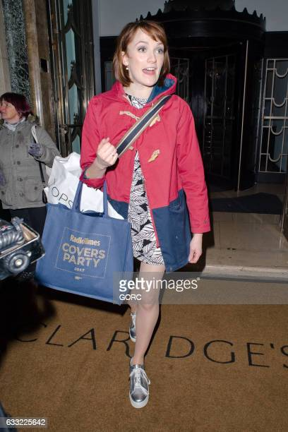 Charlotte Ritchie seen outside the Radio Times covers party Claridges hotel on January 31 2017 in London England