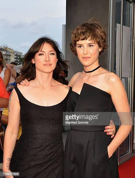 Charlotte Roche and Carla Juri attend 'Feuchtgebiete' Austria Premiere Party at Urania Kino on August 19 2013 in Vienna Austria