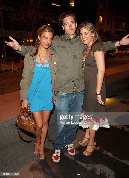 Charlotte Ronson Alex Burns and Dani Stahl during Calvin Klein Underwear Wrap Up Dinner June 16 2005 at Perry St in New York City New York United...