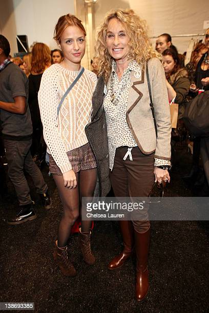 Charlotte Ronson and Ann Dexter Jones backstage at the Charlotte Ronson Fall 2012 fashion show during MercedesBenz Fashion Week at The Stage at...